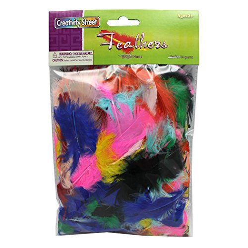 Creativity Street Turkey Plumage Feathers, Assorted Bright Hues, 0.5-oz. (Collage Turkey)