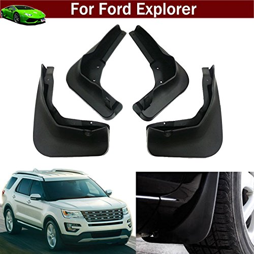 - Tiantian New 4pcs Mud Flap Splash Guard Fender Mudguard Mudflap for Ford Explorer 2011 2012 2013 2014 2015 2016 2017 2018 2019
