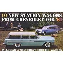 1961 CHEVROLET STATION WAGON DEALERSHIP SALES BROCHURE For Nomad, Lakewood, Parkwood, Brookwood, Corvair Greenbrier