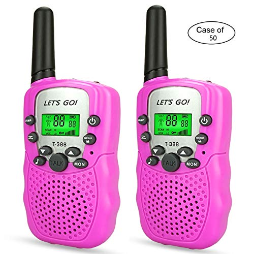 Case of 50, Long Range Walkie Talkies Two Way Radios for Kids by HODO (Image #1)