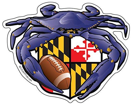 Citizen Pride Raven Crab Football Maryland Crest 5x4 inches Sticker Decal die Cut Vinyl - Made in USA