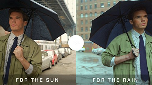 Large Sun & Rain Umbrella - Blue Jean Sunbrella Fabric - Dual Protection from Water and UVA and UVB Rays - By San Francisco Umbrella Co. by San Francisco Umbrella Company (Image #6)