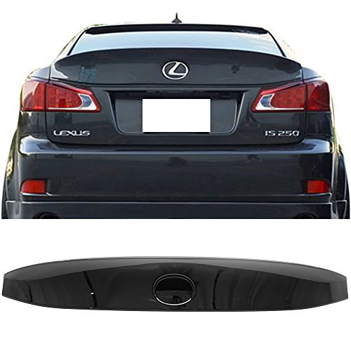 Pre-painted Trunk Spoiler Fits 2006-2013 Lexus IS250 IS350 ISF | IK Style ABS Painted #202 Black Onyx Trunk Boot Lip Wing Deck Lid Other Color Available By IKON MOTORSPORTS | 2007 2008 2009 2011 2012 2006 Black Onyx
