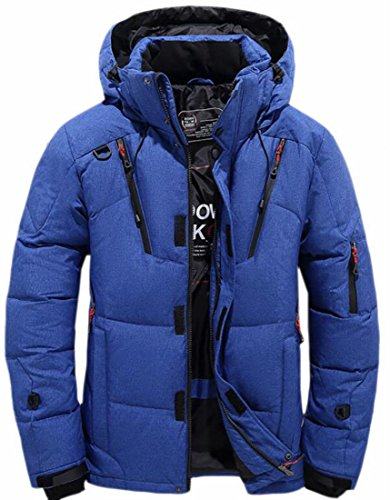 Coat Puffer Blue Padded UK Thicken Lightweight Men's Jacket Cotton Hooded today UHp0WH