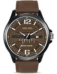 KONXIDO Mens Business Quartz Watch, Casual Fashion Analog Wrist watch Classic Date and Week Window, Waterproof...