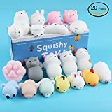 Mochi Squishy Toys, Tinabless 20Pcs Kawaii Squishy Cat Anxiety Relief Toys For Kids Adults, Mini Squishies