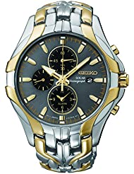 Seiko Mens SSC138 Excelsior Two-Tone Stainless Steel Solar Watch