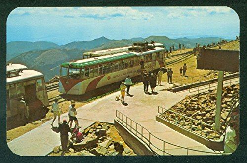 Streamline Diesel Cog Train PIKES PEAK COLORADO CO Railroad Postcard (Pikes Train)