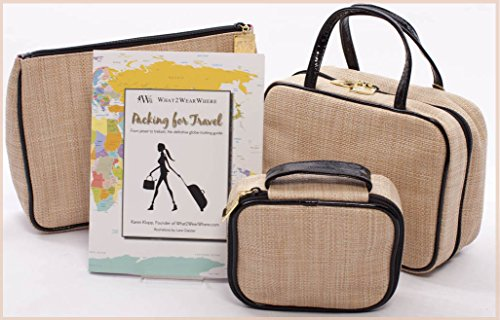 What2WearWhere Travel Bags with Packing for Travel Book by What2WearWhere