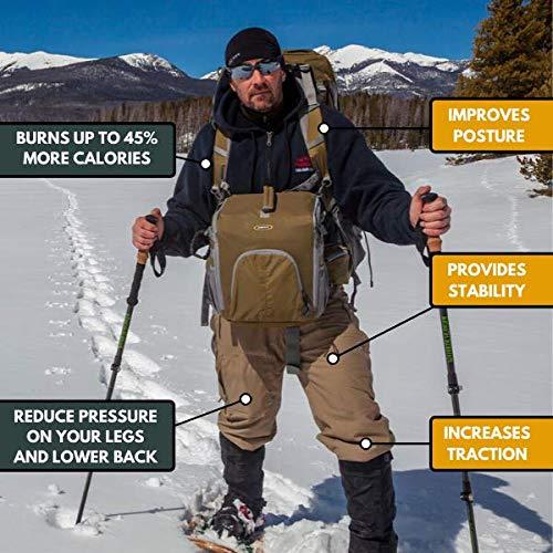 Hiker Hunger Outfitters Carbon Fiber Trekking Poles –Ultralight & Collapsible with Quick Flip-Locks,Cork Grips,Tungsten…