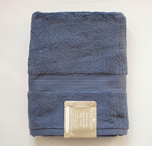 "Royal Velvet Bath Towel - Luxury Royal Velvet Signature Soft Solid Bath Towel - 30x54""- Night Shadow Blue"