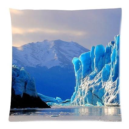 Maravilloso impresionante Glacier Ice Age Natural Paisaje Paisaje manta funda de almohada arte decorativo funda de