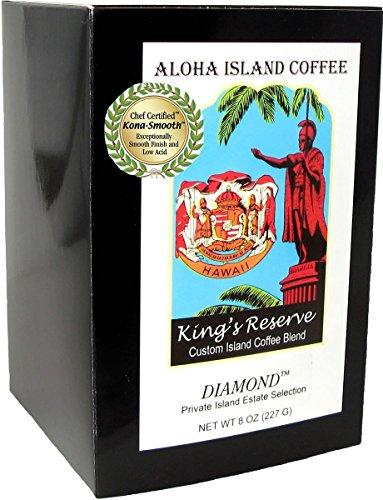 Senseo Pods, Kings Reserve Diamond MEDIUM-LIGHT Roast Kona Hawaiian Coffee, Premium 10gr Pods, 18 Pods - Hamilton Island Light