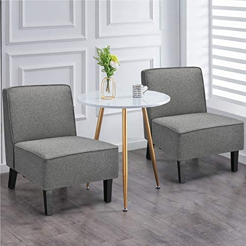Giantex Set of 2 Upholstered Accent Chair - the best living room chair for the money