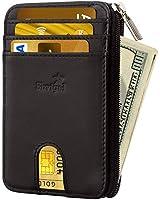 Slim Wallet Credit Card Holder - Leather RFID...