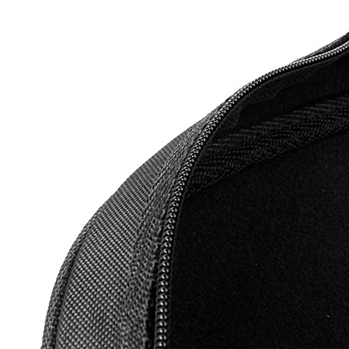 Flexzion Senior Trumpet Gig Bag Case Durable Soft Nylon Padded Portable Instrument Accessory with Double Zippers and Adjustable Shoulder Strap in Black by Flexzion (Image #6)