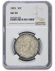 1805 Draped Bust Half Dollar AU-50 NGC Half Dollar AU-50 NGC