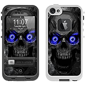 Skin Decal for LifeProof Apple iPhone 5 Case - Skull Colored Eyes Blue
