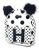 Justice Girls Mini Backpack Initial Polka Dot Pom
