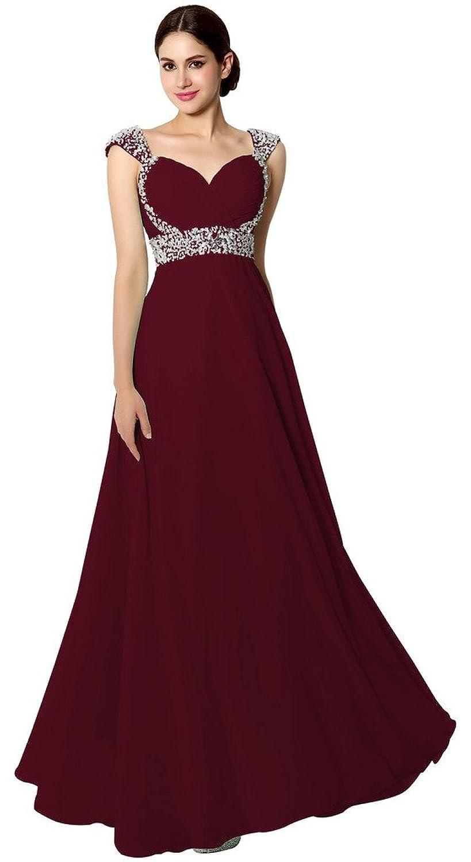 Eudolah Princess Sweetheart Neck Floor-Length Chiffon Evening Dress