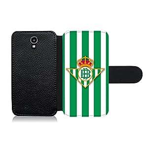 Funda carcasa de cuero para Samsung Galaxy S4 fútbol estuco Betis
