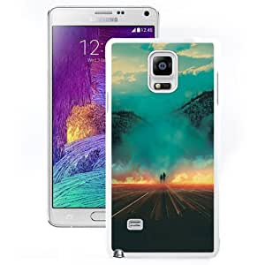 DIY and Fashionable Cell Phone Case Design with Fantasy Retro Illustration Galaxy Note 4 Wallpaper in White