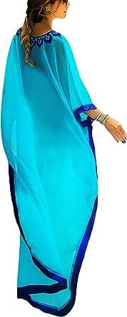Bsubseach Traje De Ba/ño para Mujer con Estampado /étnico Kaftan Beach Maxi Vestidos