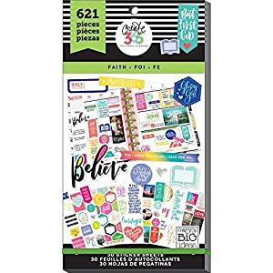 me & my BIG ideas  PPSV-17-2048 Create 365 The Happy Planner Sticker Value Pack Planner, Classic Faith
