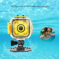 Kids Action Camera, Esoku Children Camera Waterproof Sports Camera HD Camcorder DV for Boys Holiday Gift