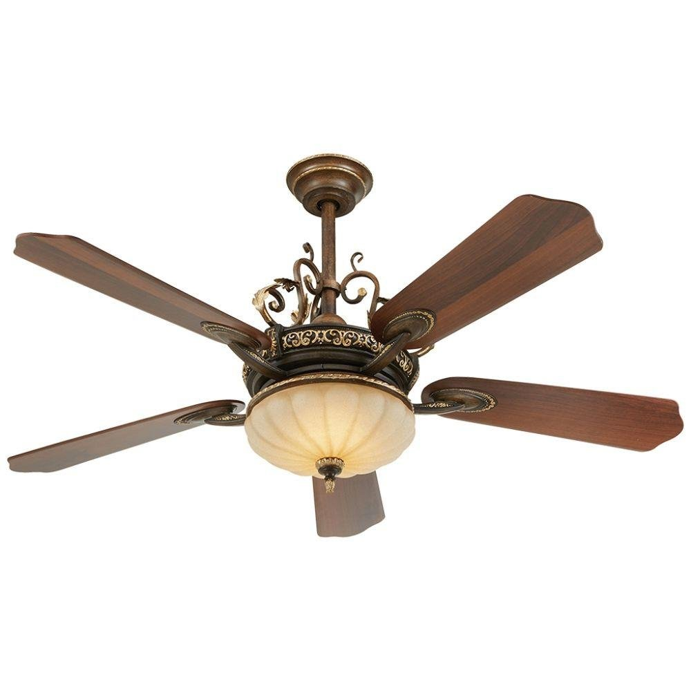 Home Decorators Collection 52 inch Indoor Ceiling Fan Cuatea8 Deville LED 860