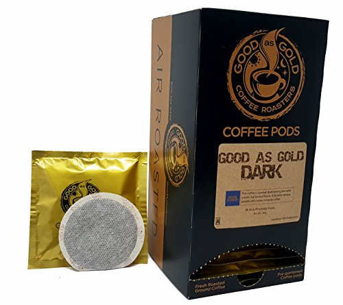 DARK ROAST COFFEE PODS, Good As Gold Coffee (3 Pack Special = 54 Pods) ()