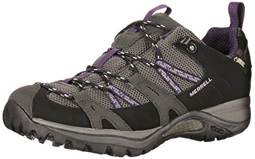 Womens Siren Sport Gore Tex (Merrell Siren Sport Gore Tex Womens Walking Shoes UK 6.5 Black Perfect Plum)