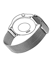 Milanese Band for Huawei Watch, Bandmax Stainless Steel Mesh Replacement Strap with Magnetic Lock Milanese Loop for 18MM Huawei Watch/Huawei Fit