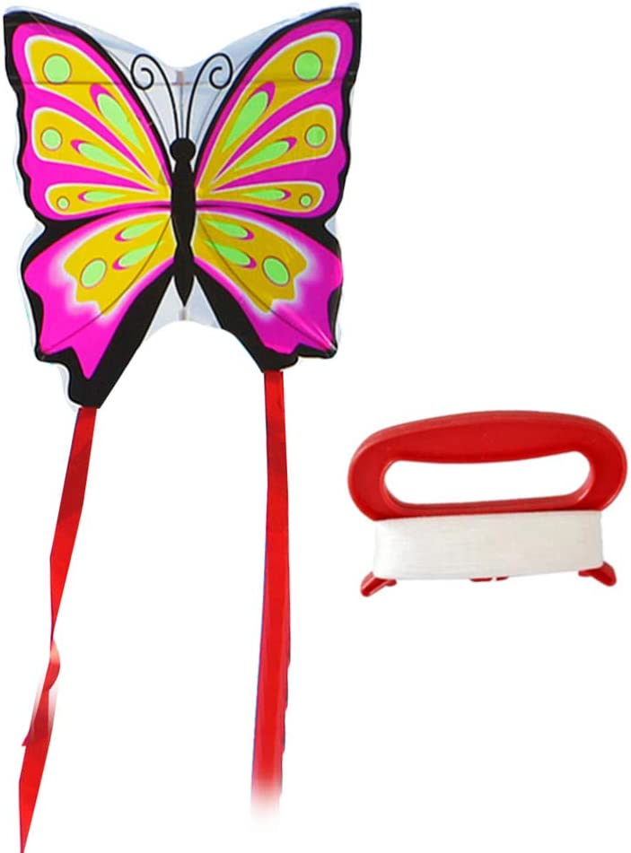 NUOBESTY Cerf-Volant Papillon Cerf-Volant Monofil Volant pour Enfants Adultes avec Longue Queue Et Corde de Cerf-Volant