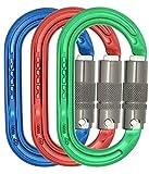 DMM Ultra Oval Locking Carabiner - Lock Safe 3 Color Pack