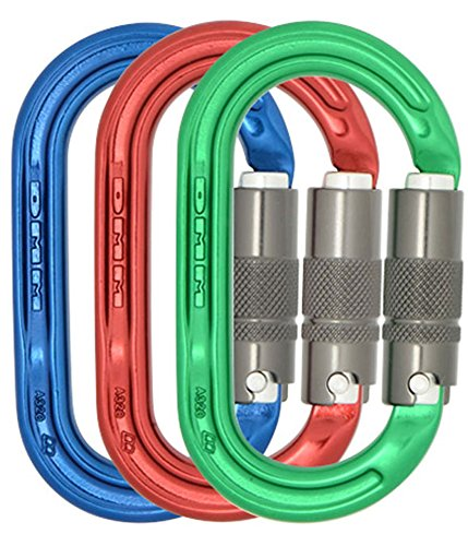 DMM Ultra Oval Locking Carabiner - Lock Safe 3 Color Pack by DMM