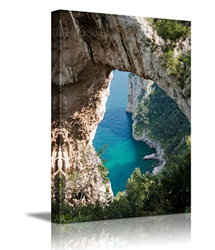 Beautiful Landscape Natural Arch in Capri island Italy ing