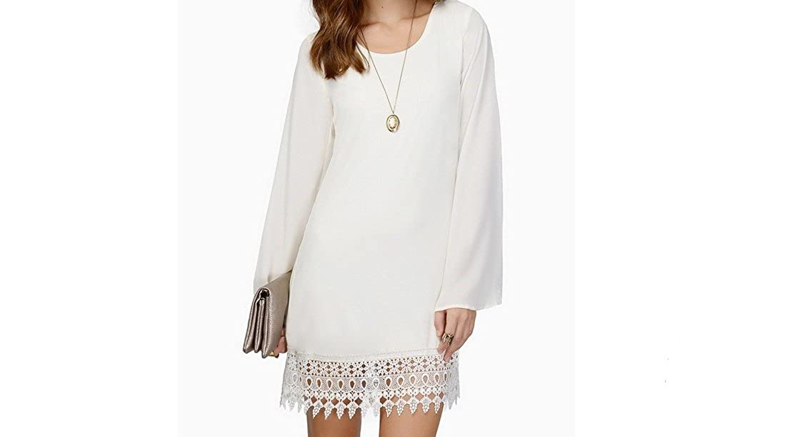 Long Sleeve Women Lace Dresses Vestidos Femininos White