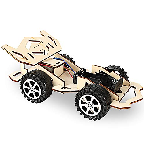 - Zitainn Car DIY Kit Wood Racing Kids Toy DIY Kit Electric Wooden Racing Car for Children Science and Technology Inventions Assembled Experiment DIY Model Building Kits
