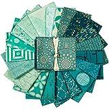 Art Gallery Fabrics Exclusive Bundle 20 Fat Quarters Turquoise