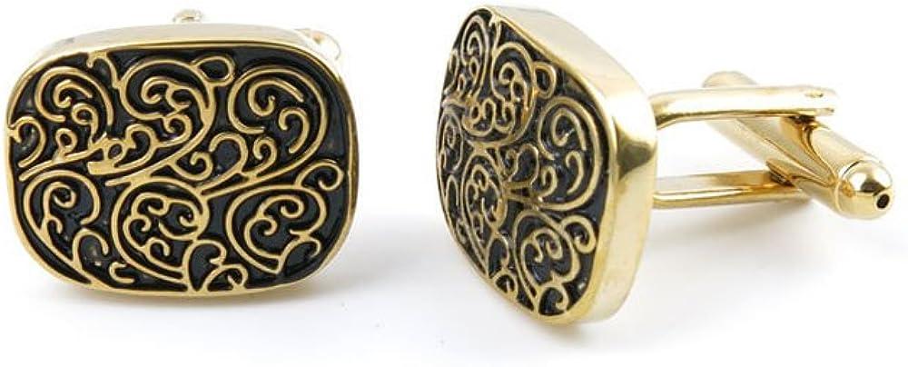 Men Boy Jewelry Cufflinks Cuff Links Party Favors Gift Wedding OY047 Golden Roman Pattern