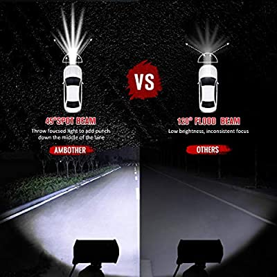 AMBOTHER LED Pods Light Bar 5-Inch Equivalent to 144-watt Driving Fog Off Road Lights LED Cubes Lights for Pickup Truck Jeep ATV UTV SUV Boat, 2 Pack: Automotive
