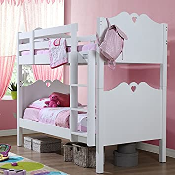b0aba557bdc Children s Girls Holly Bunk Bed Kids White Bedroom Furniture  Amazon.co.uk   Kitchen   Home