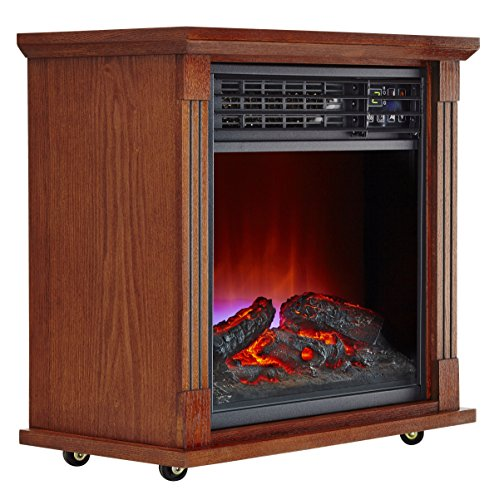Haier 5 100 Btu Infrared Electric Fireplace Heater Space Heaters Review