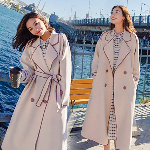 una Que L Rodilla Spring Coat Hija es Femenina Yarda DFSXCZ Ocasional Suelta Cazadora Thin Larga Media Grande más Autumn WTqF7a70A