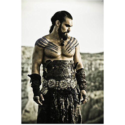 Game of Thrones Jason Momoa as Khal Drogo Standing in Armor 8 x 10 Inch Photo