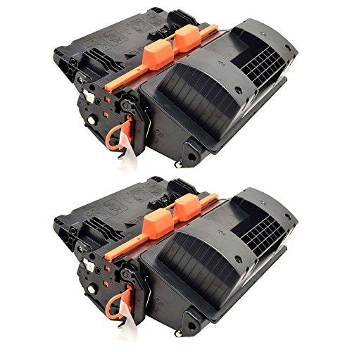 (NineLeaf 2PK High Yield Black Toner Cartridge Compatible for CC364X 64X Used in LaserJet P4015x Printer)