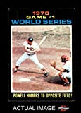 1971 Topps # 327 1970 World Series - Game #1 - Powell Homers to Opposite Field Boog Powell / Johnny Bench Baltimore / Cincinnati Orioles / Reds (Baseball Card) Dean's Cards 5 - EX Orioles / Reds