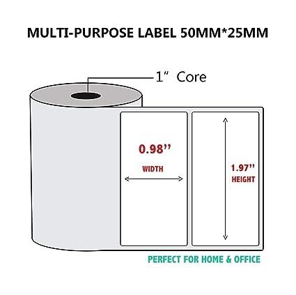 5 rollos de papel de impresión térmica para impresora ...