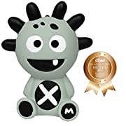 Mibblers Unisex Baby Product Infant Item Toddler Favorite Rubber Teething Toy Monster Self Soothing Animal Popular Baby Teether Grey Boys or Girls